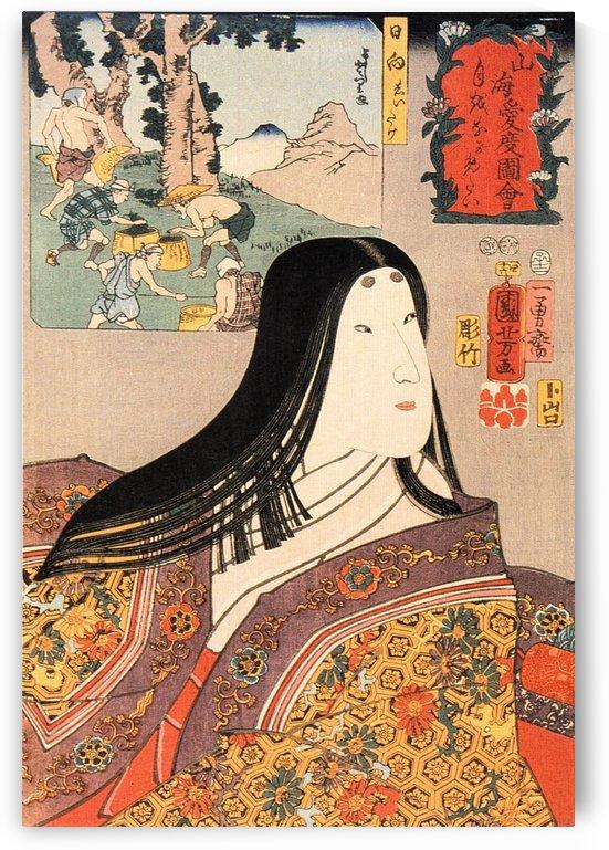 Woman in kimono by Utagawa Kuniyoshi