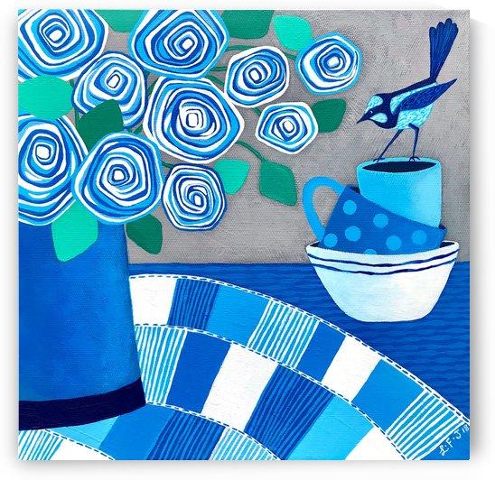 Blue Summer Wren by Lisa Frances Judd