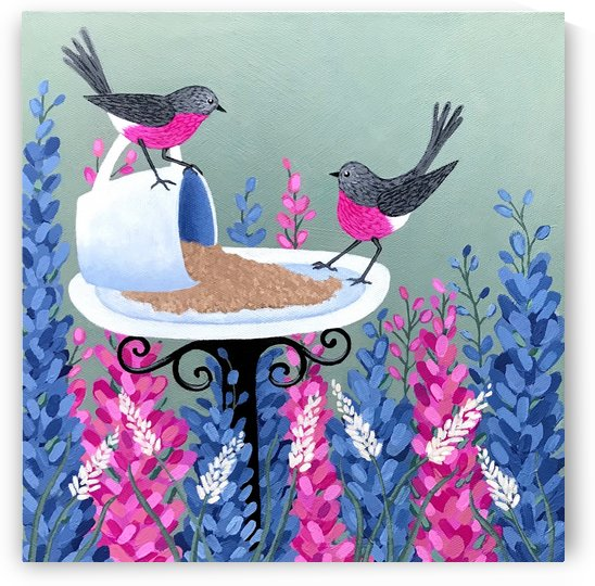 Rose Robins In My Garden by Lisa Frances Judd