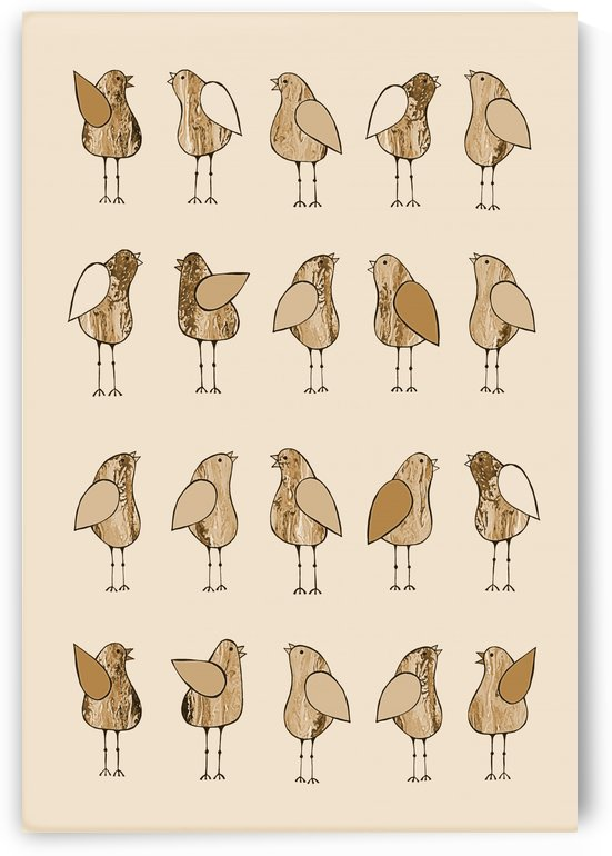 Gossip Birds Sepia by Lisa Frances Judd