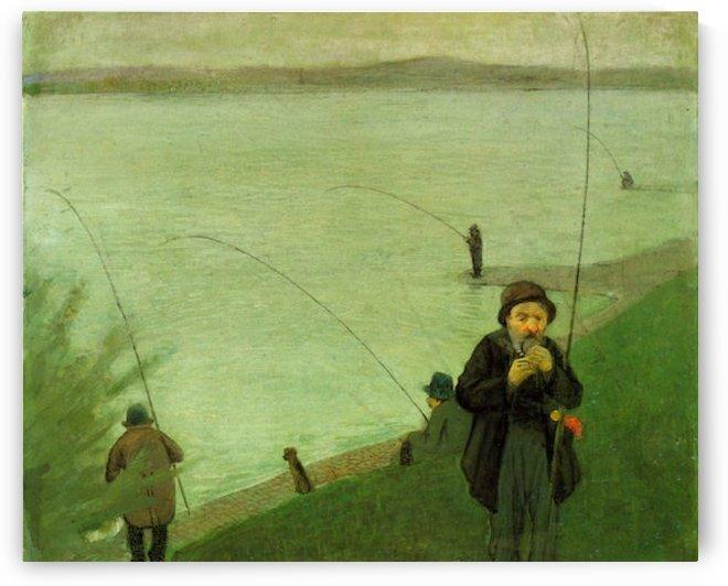 Anglers on the Rhine by Macke by Macke