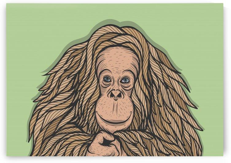 Orangutan by Milhad