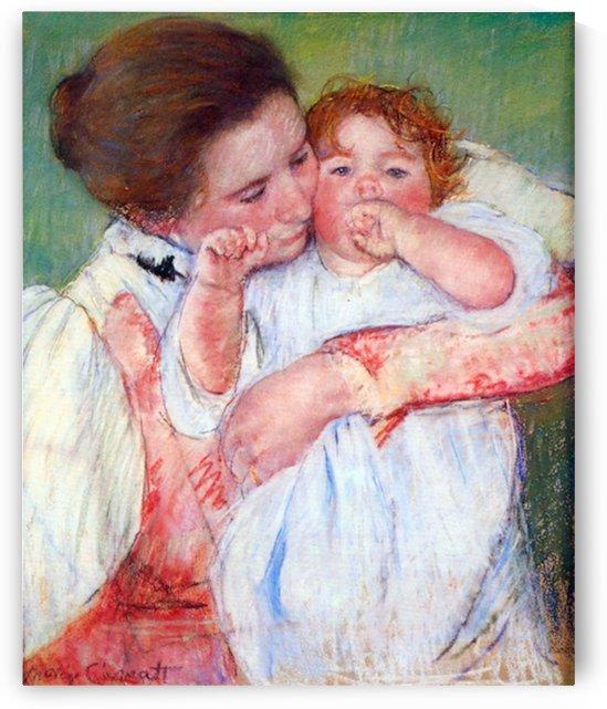 Anne Klein, from the mother embraces by Casatt by Cassatt