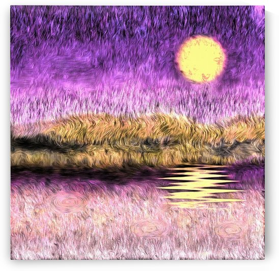 Purple Sunset by Bruce Rolff