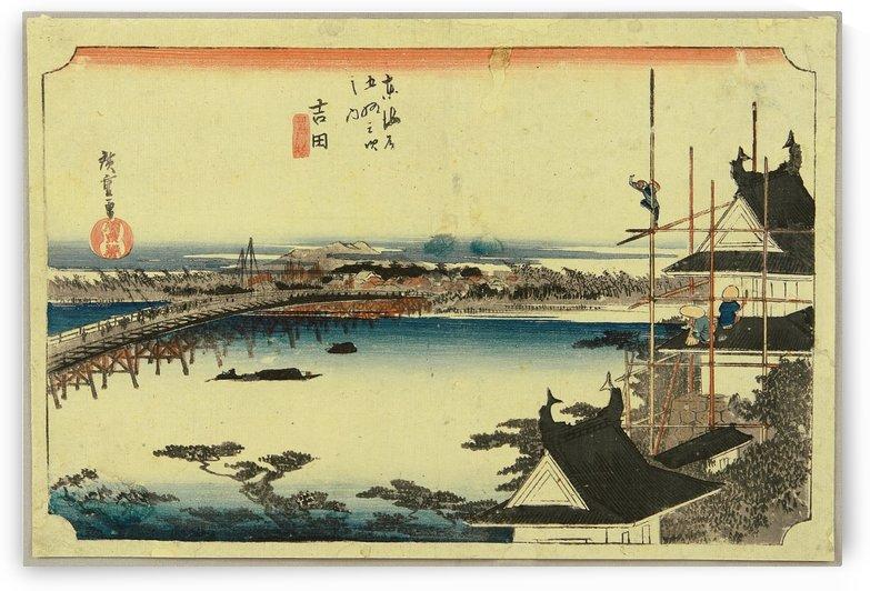 Toyokawa Bridge at Yoshida by Utagawa Kuniyoshi