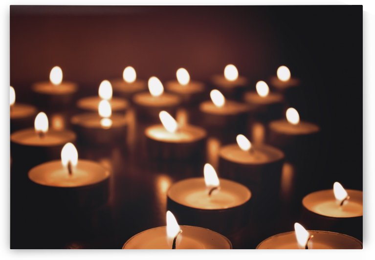 Candles on dark background by Alex Pell