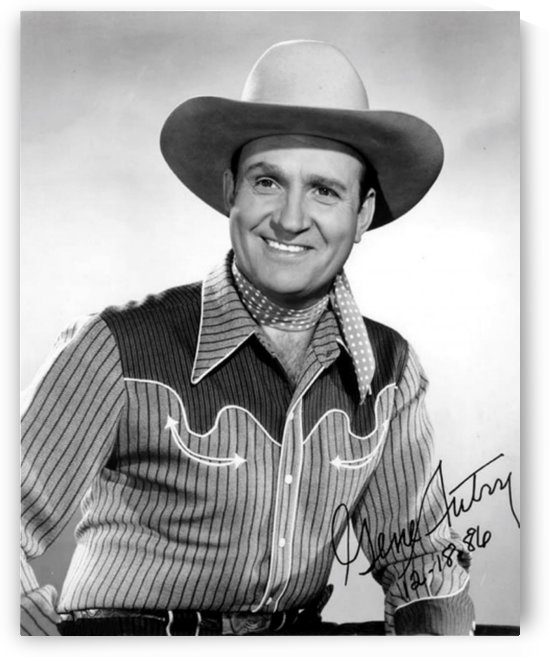 Gene Autry Autograph Portrait by Smithson