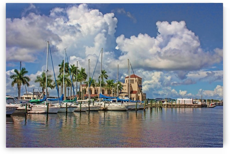 Summer At The Waterfront Marina by HH Photography of Florida