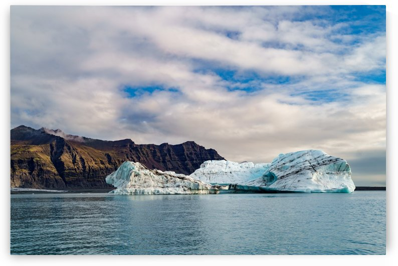 Glacier with the mountain range under the blue sky-- Jokulsarlon Iceland by Jason Wen Bin TONG