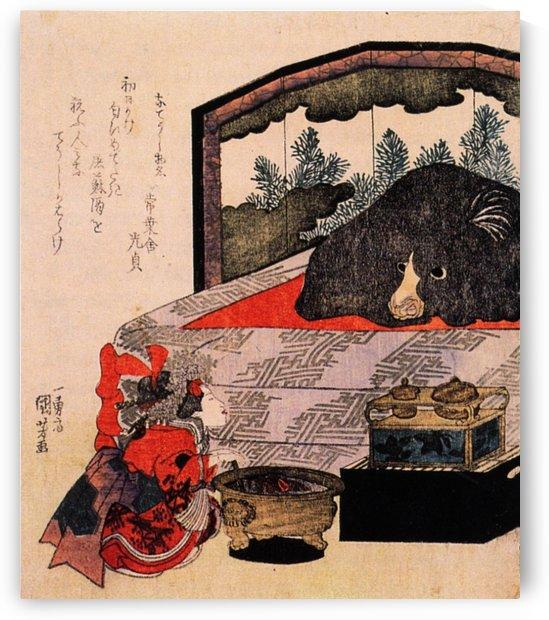 Courtesan in training by Utagawa Kuniyoshi