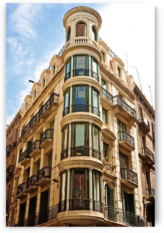 Corner Building with Round Windows by Darryl Brooks