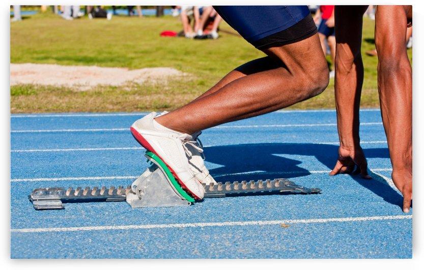 Runner in Blocks by Darryl Brooks
