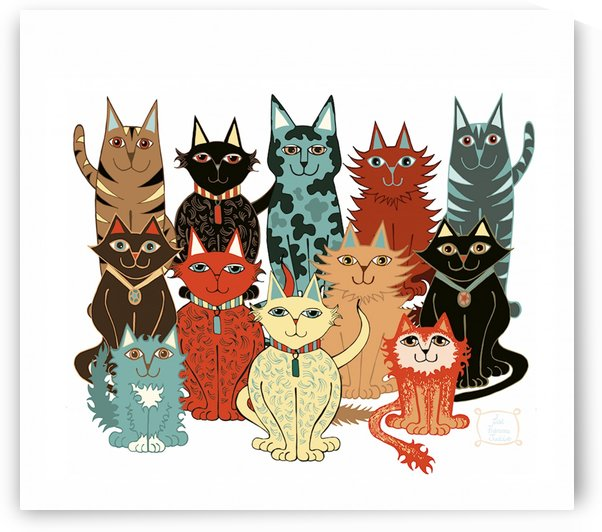 A Dozen Cats by Lisa Frances Judd