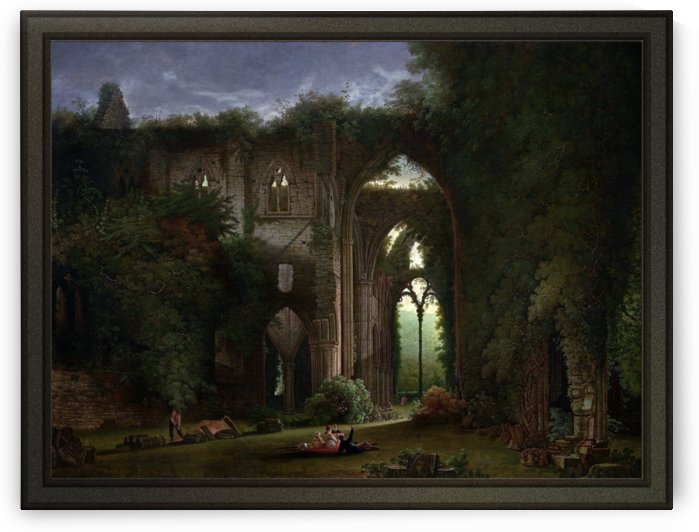 Sketching the Ruins of Tintern Abbey by Samuel Colman by xzendor7