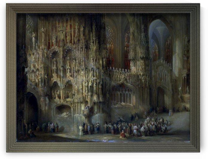 Interior of the Cathedral of San Miguel in Jerez by Genaro Perez de Villamil by xzendor7
