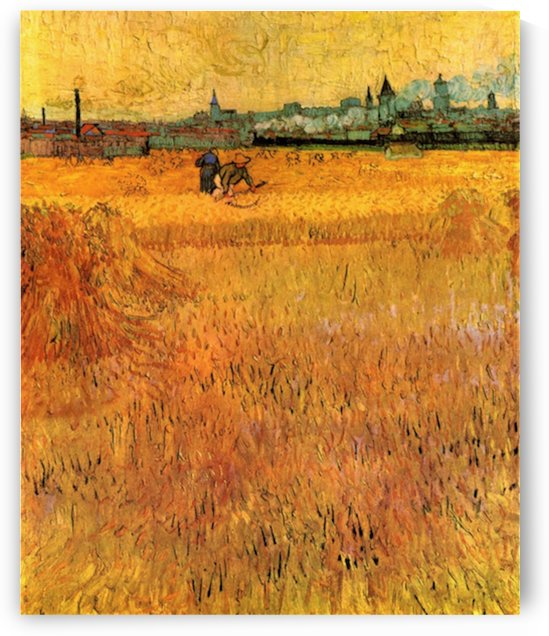 Arles View from the Wheat Fields by Van Gogh by Van Gogh