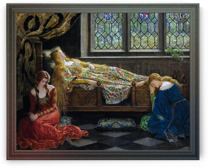 The Sleeping Beauty by John Collier Old Masters Reproductions by xzendor7
