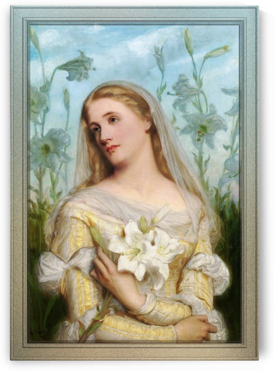 Lillies by Gustav Pope Old Masters Reproduction by xzendor7