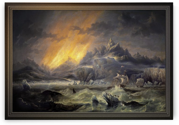 HMS Erebus and Terror in the Antarctic by James Wilson Carmichael by xzendor7
