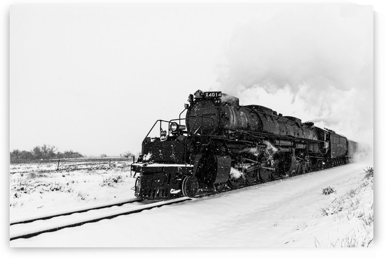 UP Engine 4014 Brings Excitement Back To Trains.BW by Garald Horst