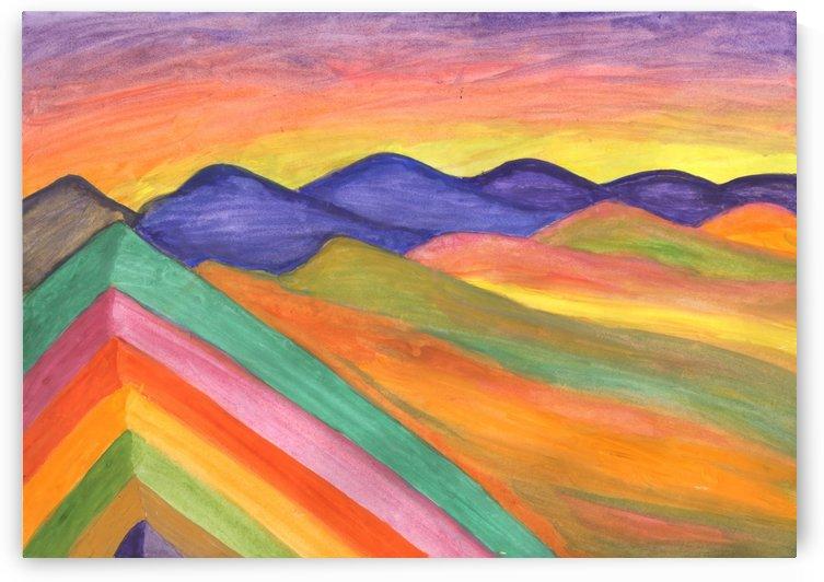 Rainbow mountains. Colorful mountain landscape by Dobrotsvet Art