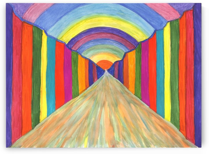 Colorful abstract painting. Perspective by Dobrotsvet Art