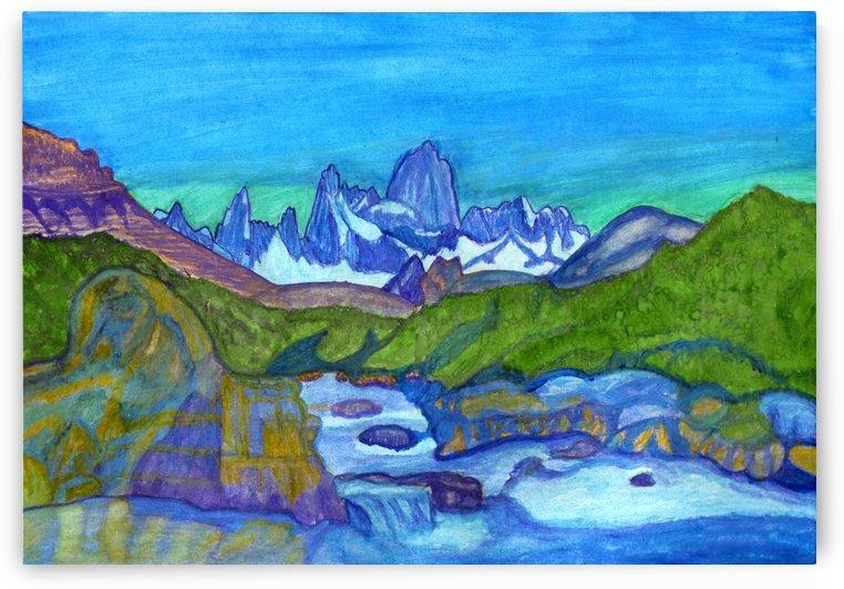 Fabulous mountain landscape. Fantasy world by Dobrotsvet Art