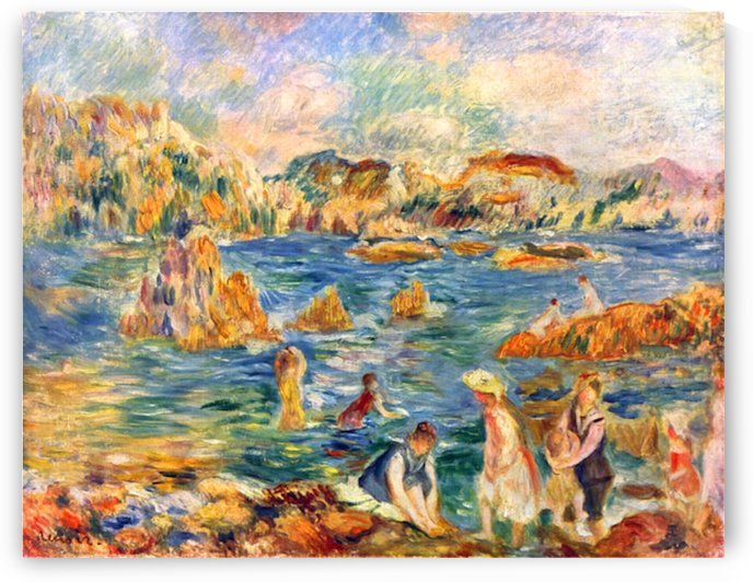 At the beach of Guernesey by Sisley by Sisley