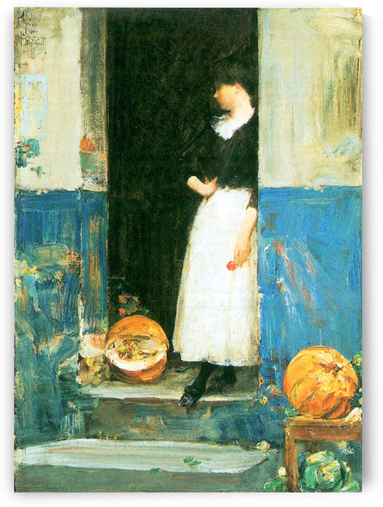 The fruit trader by Hassam by Hassam