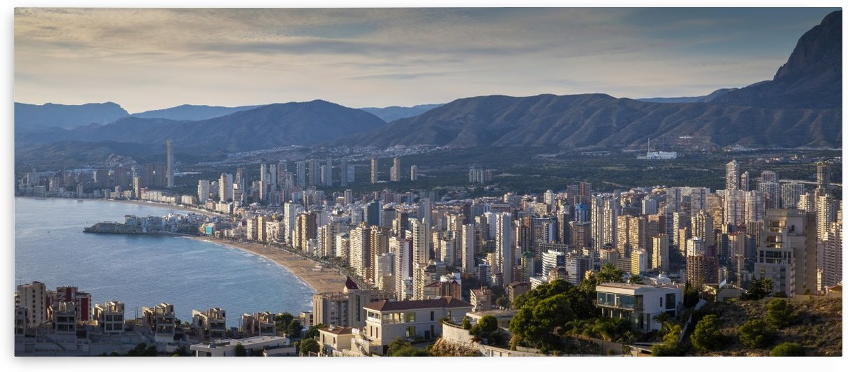 Benidorm panorama by Leighton Collins