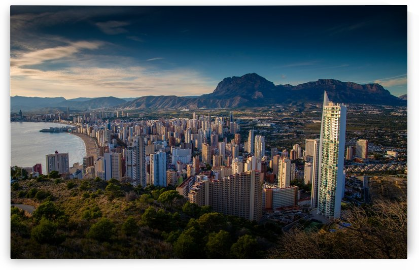 Benidorm skyline from Sierra Helada by Leighton Collins