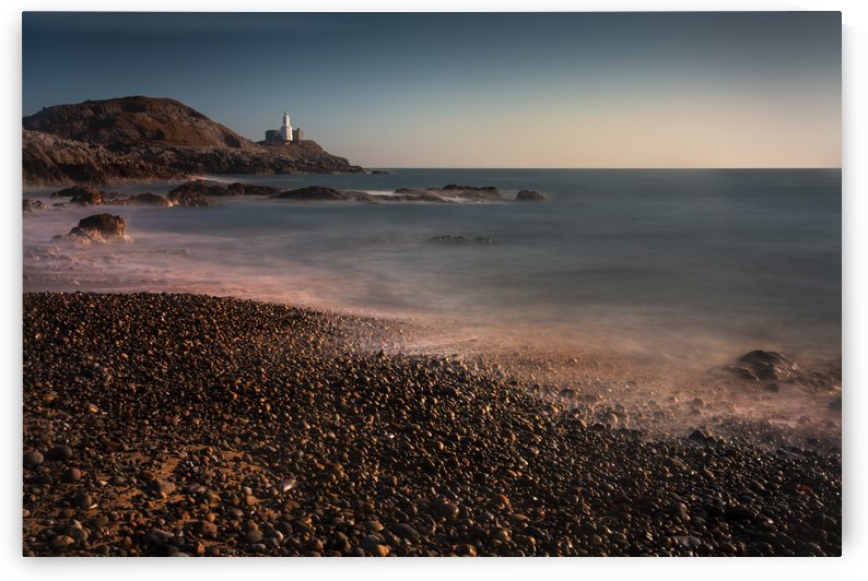 Calm sea on Bracelet Bay by Leighton Collins