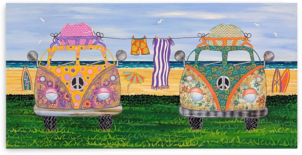 Hippy Van Holiday no.2 by Lisa Frances Judd