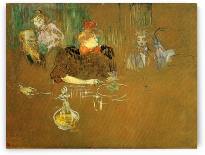 At the table by Toulouse-Lautrec by Toulouse-Lautrec