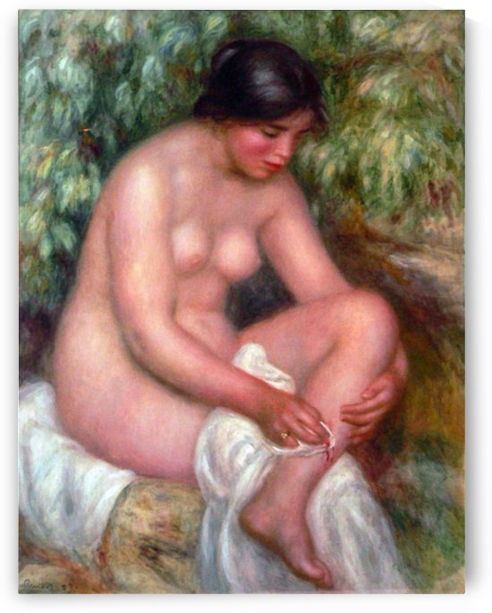 August Renoir Bathing  by