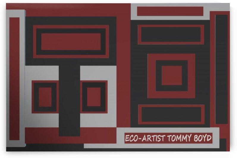 RED   BLACK & PLATNUM   ECO ARTIST TOMMY BOYD by KING THOMAS MIGUEL BOYD