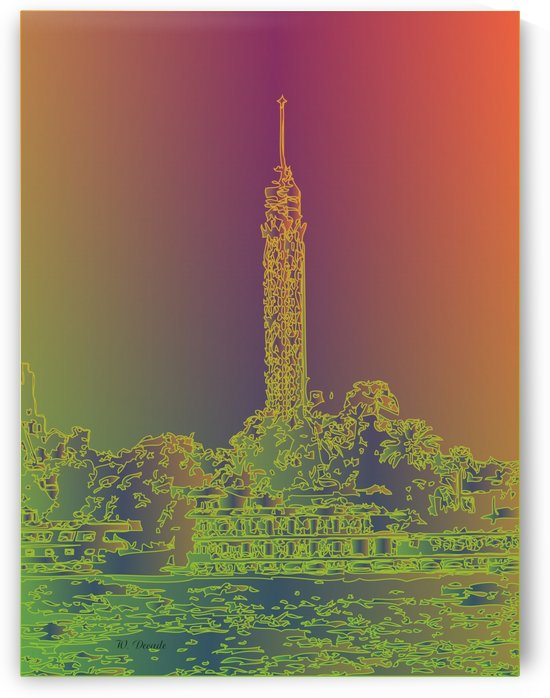 Abstract Cairo Tower by Willy Decade