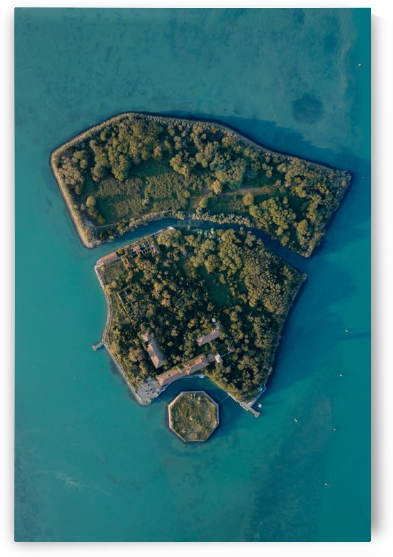Poveglia Island From Above by Steve Ronin