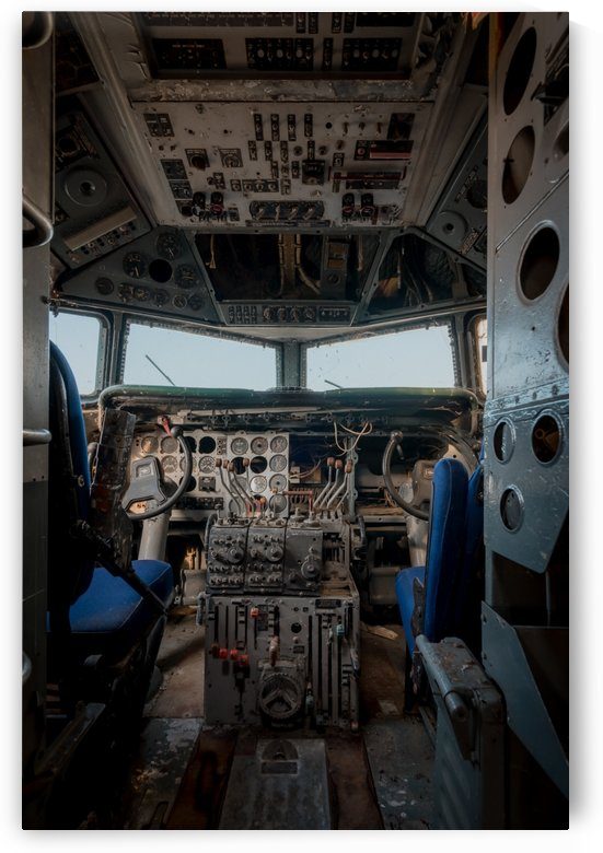 Abandoned Airplane Cockpit by Steve Ronin