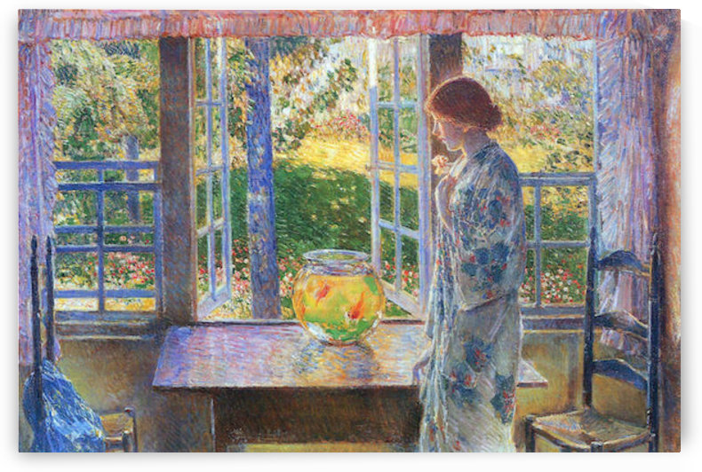 The Goldfish Window by Hassam by Hassam