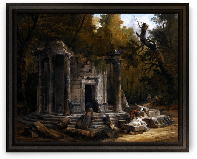Temple Of Philosophy At Ermenonville by Hubert Robert by xzendor7