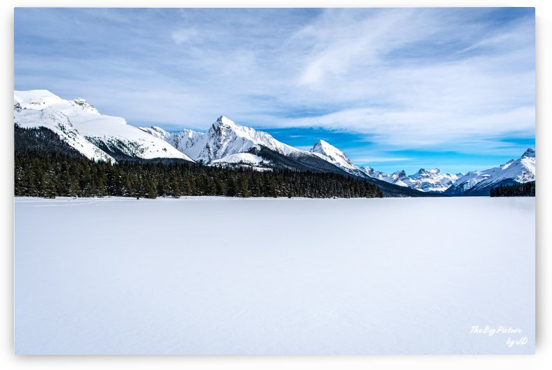 Maligne Lake Frozen by The Big Picture by JD