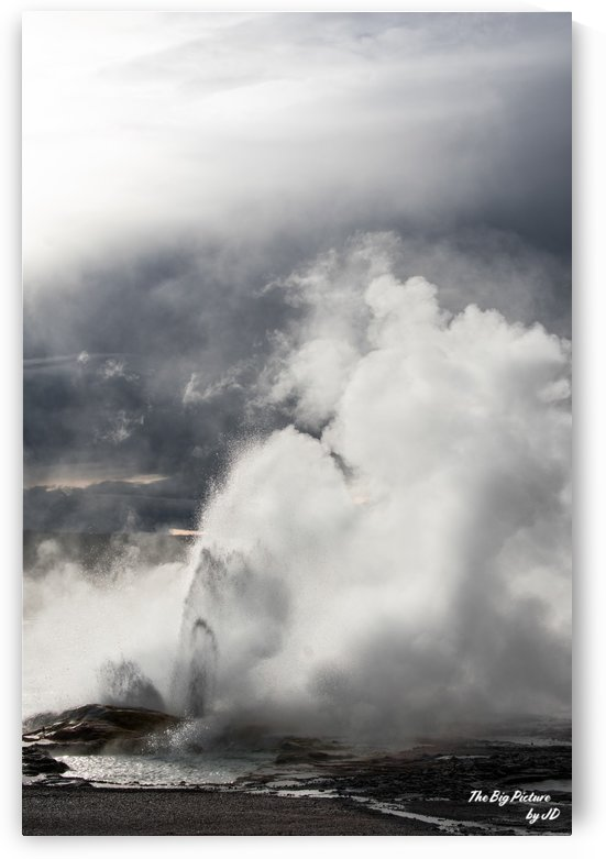 Yellowstone Norris Geyser Basin Upright by The Big Picture by JD