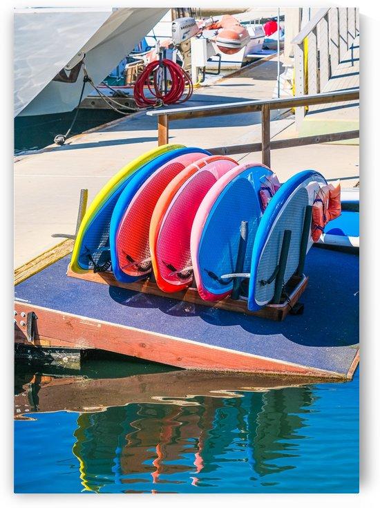 Rack of Paddleboards by Darryl Brooks