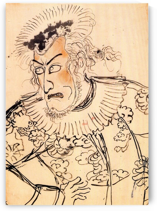 Actor with red face by Utagawa Kuniyoshi