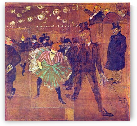 Ball At Moulin-Rouge by Toulouse-Lautrec by Toulouse-Lautrec