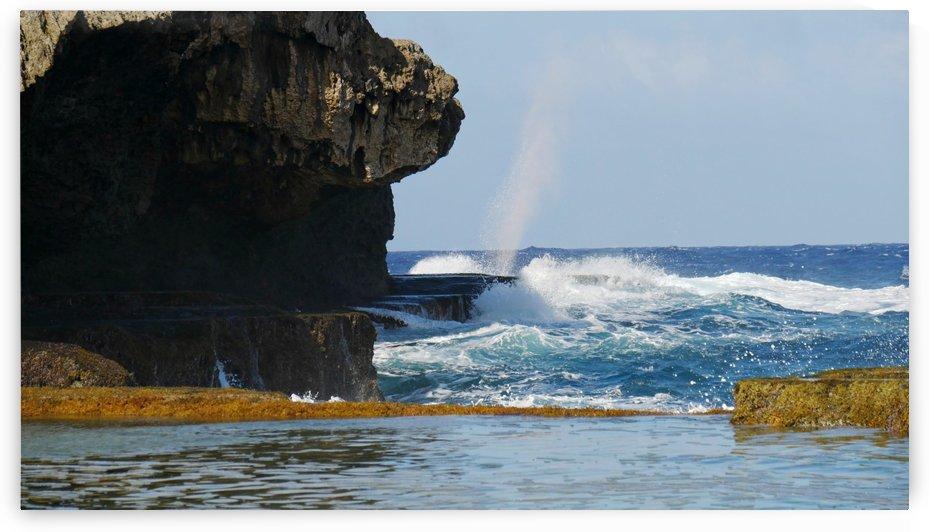 The Blow Hole Saipan  by On da Raks