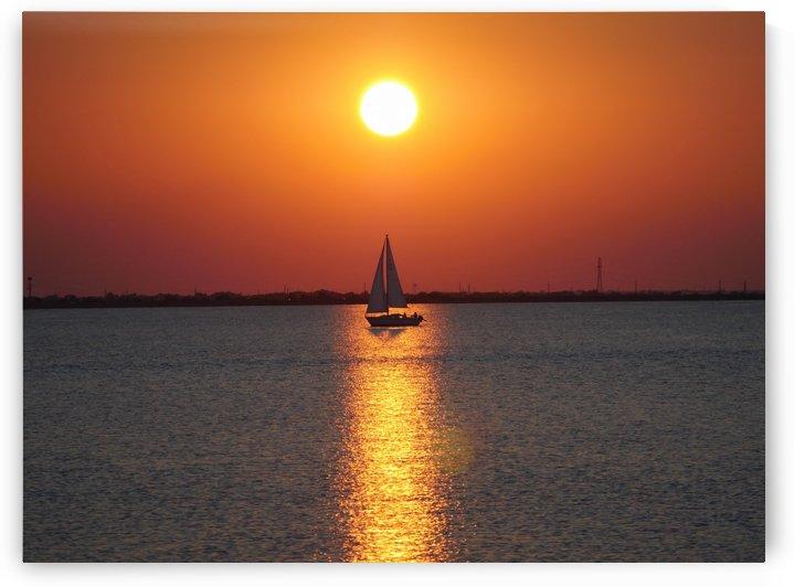 Sailboat at Sunset by On da Raks