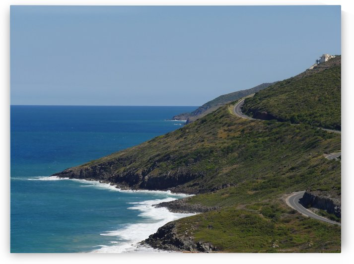 Scenic coastal view of Frigate Bay St Kitts by On da Raks