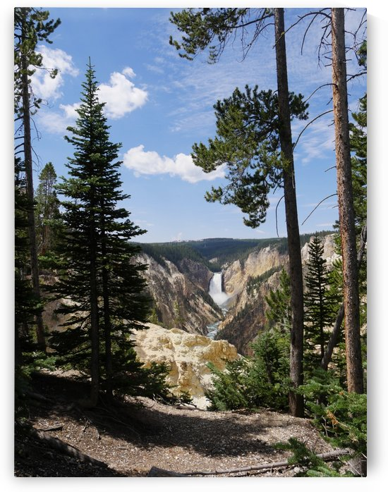 Lower Yellowstone Falls Artist Point by On da Raks